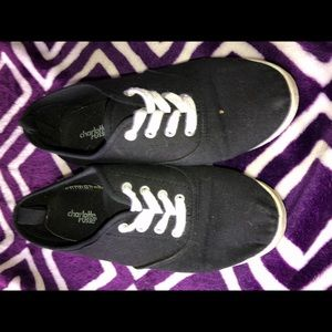 Black ked style shoes